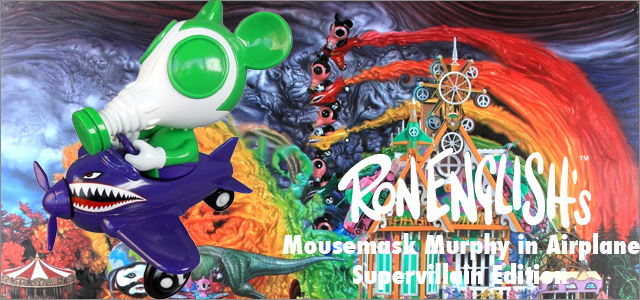 Ron English x BlackBook Toy:Mousemask Murphy in Airplane Supervillan Edition