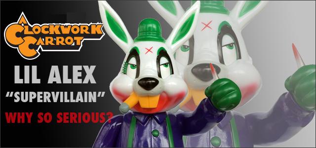 Frank Kozik x BlackBook Toy:A Clockwork Carrot Lil Alex 11������ե����奢 Supervillain