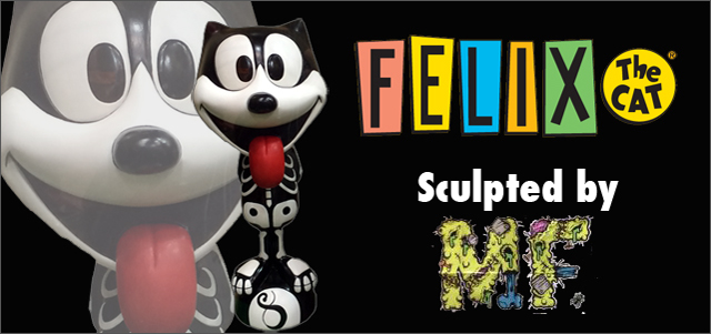 Felix the Cat�ʥե���å����� Big Statue Skull Suit sculpted by Chop of Monster Farm