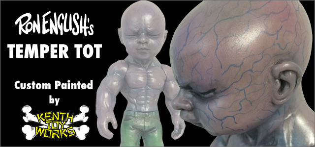 Ron English:Temper Tot Albino Purple custom painted by Kenth Toy Works