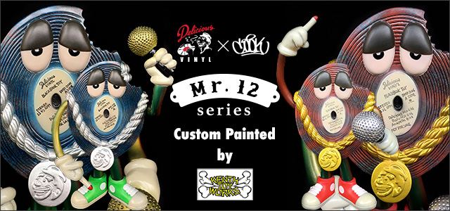 Delicious Vinyl x COOKone:Mr12 custom painted by Kenth Toy Works