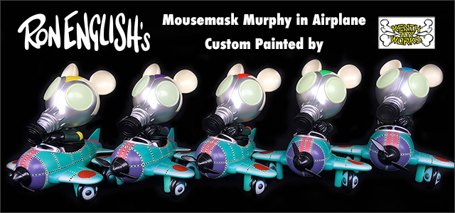 Ron English:81 Corps Mousemask Murphy custom painted by Kenth Toy Works