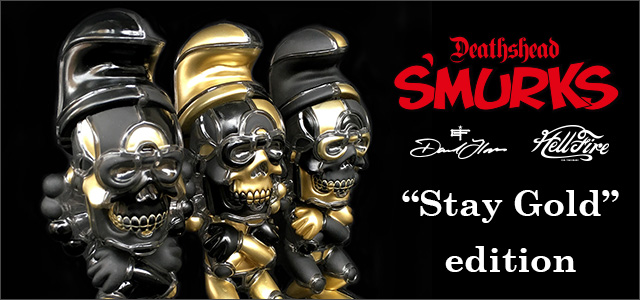 David Flores x HellFire Canyon Club:Deathead Smurk Stay Gold