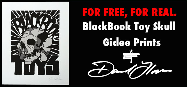 BlackBook Toy Skull giclee print by David Flores