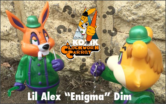 Frank Kozik:A Clockwork Carrot Lil Alex&Dim Enigma