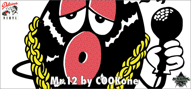 COOKone x Delicious Vinyl:Mr.12 sofubi by BlackBook Toy