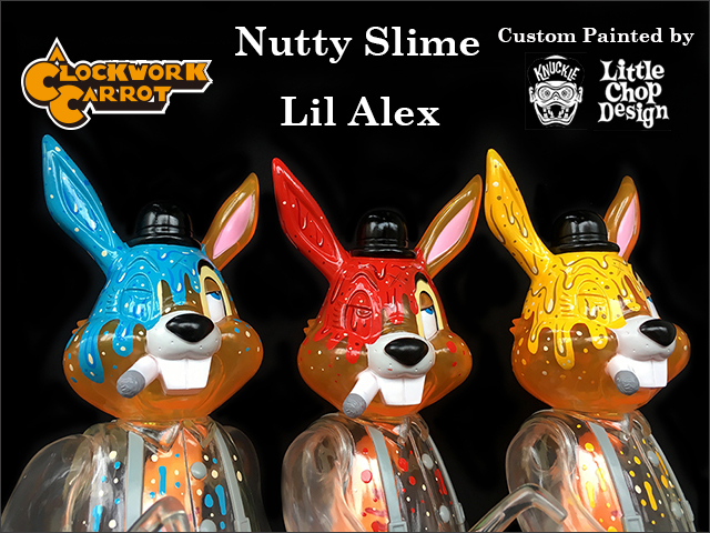 Frank Kozik:Nutty Slime Lil Alex custom painted by Knuckle of Little Chop Design