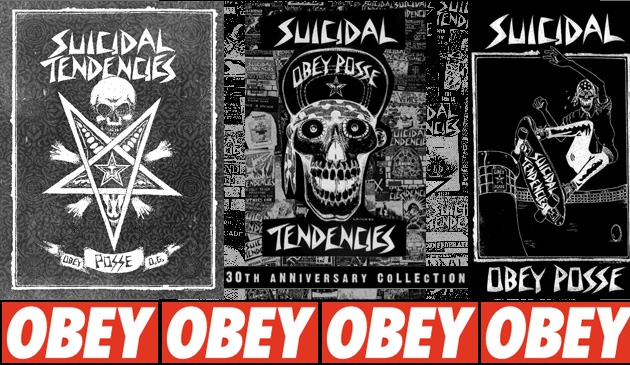 OBEY/Shepard Fairey x Suicidal Tendencies 30��ǯ��ǰ����ܥ����ƥࡪ