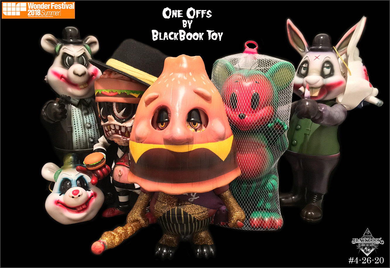 One offs by BlackBook Toy for Wonder Fest